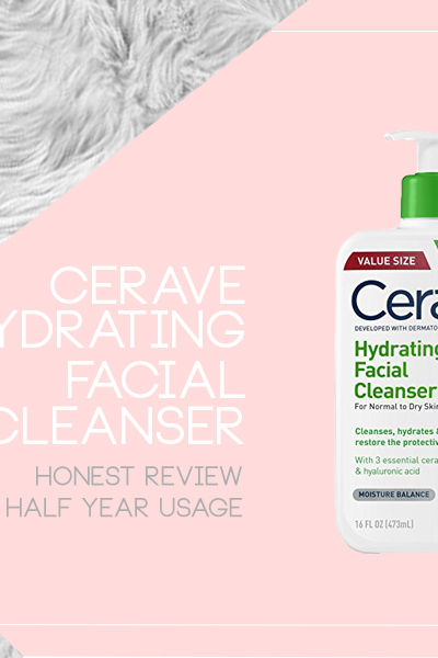 A display of Cerave Hydrating Facial Cleanser product Review from Breakfast with Tea Blog