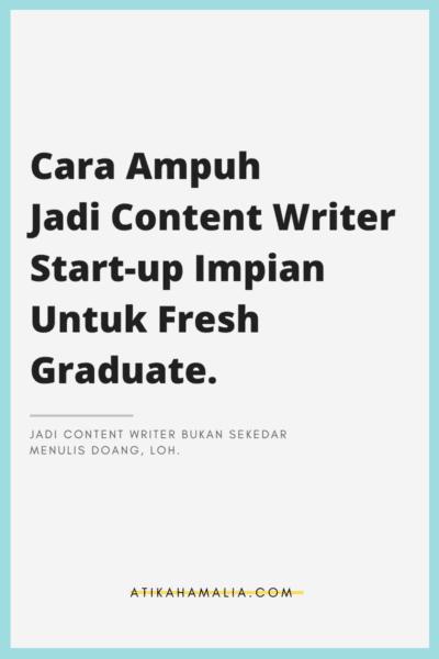 feature image - cara jadi content writer untuk fresh graduate